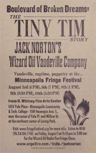 Jack Norton Tiny Tim Poster