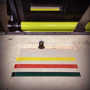 Printing the yellow band on the C & P